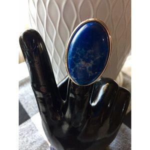 "Large Oval ""Lapis Lazuli"" Cocktail Ring"